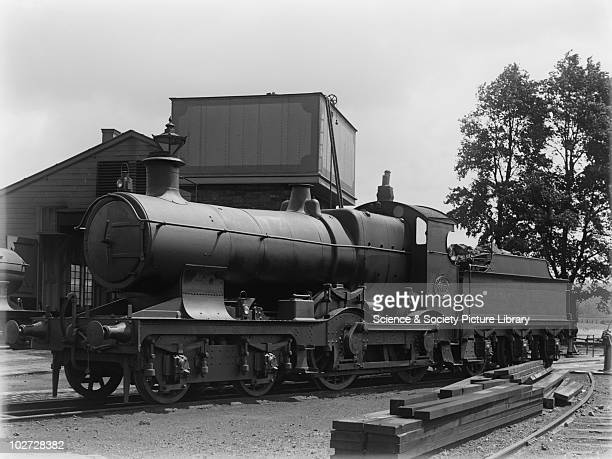 GWR locomotive no3335 at Barnstaple Great Western Railway 440 Bulldog class locomotive no 3335 at Barnstaple loco shed with 3000 galloon tender c1927...