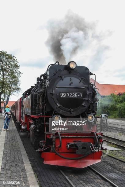 Lokomotive auf die Harzer Dampfeisenbahn (Wernigerode, Deutschland)