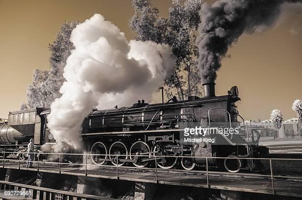 Locomotive Steam Train in Infrared, Pretoria, Gauteng Province, South Africa
