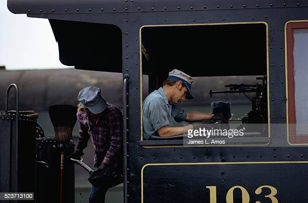 Locomotive Stoker and Engineer