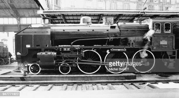 Locomotive à vapeur 230G de la SNCF, en France.