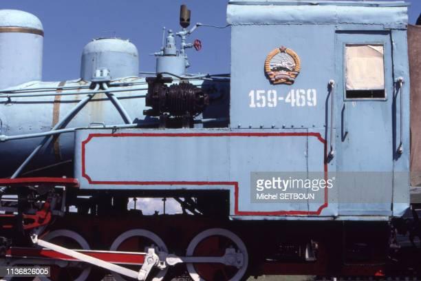 Locomotive à vapeur du musée des chemins de fer à OulanBator Mongolie
