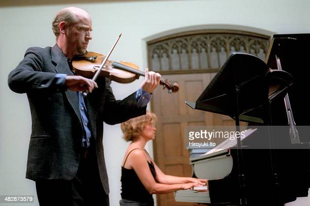 Locrian Chamber Players performing at Riverside Church on Thursday night August 21 2003This imageCalvin Wiersma and Emily Wong performing Brooke...