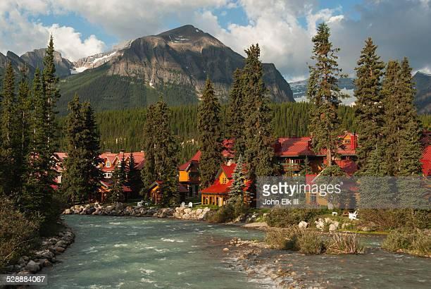 Lodge along Bow River
