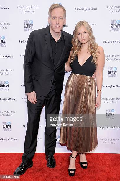 Lodge Kerrigan and a guest attend IFP's 26th Annual Gotham Independent Film Awards at Cipriani Wall Street on November 28 2016 in New York City