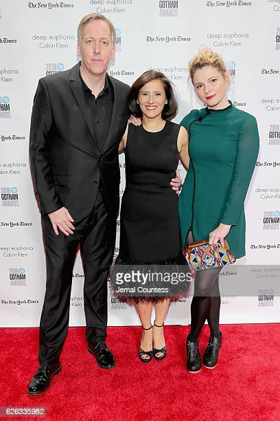 Lodge Kerrigan Joana Vicente and Amy Seimetz attend IFP's 26th Annual Gotham Independent Film Awards at Cipriani Wall Street on November 28 2016 in...