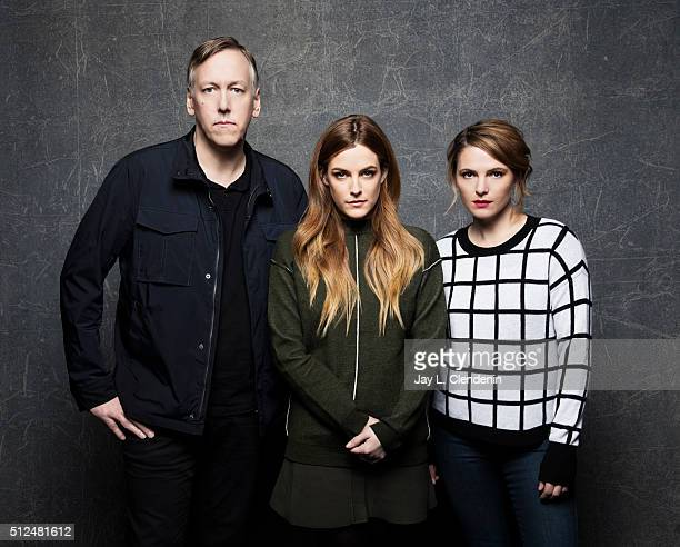 Lodge Kerrigan Riley Keough and Amy Seimetz of 'The Girlfriend Experience' pose for a portrait at the 2016 Sundance Film Festival on January 24 2016...