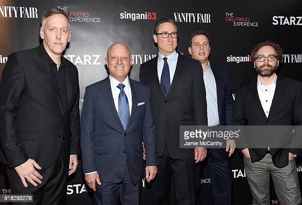 Lodge Kerrigan STARZ CEO Chris Albrecht Carmi Zlotnik Jeff Hirsch and Ken Segna attend the New York premiere of 'The Girlfriend Experience' at The...