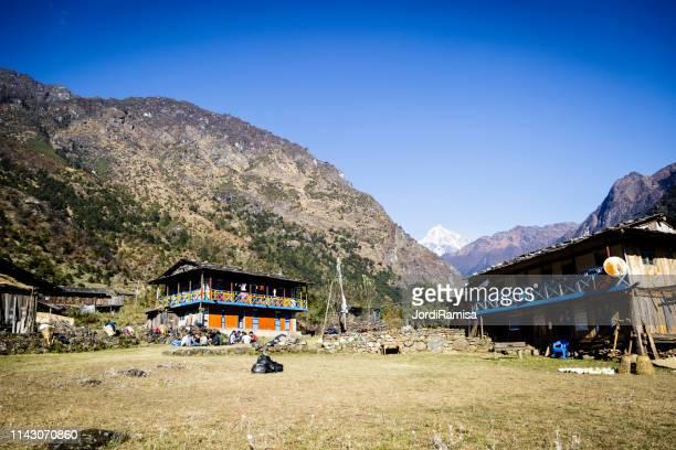 loge van sellele (4,210 meter) - himalaya stockfoto's en -beelden