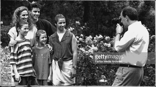***** lodge Paul Keating and family at XmasAt Christmas proud Dads take pictures of their families including the Prime Minister MrKeating who posed...