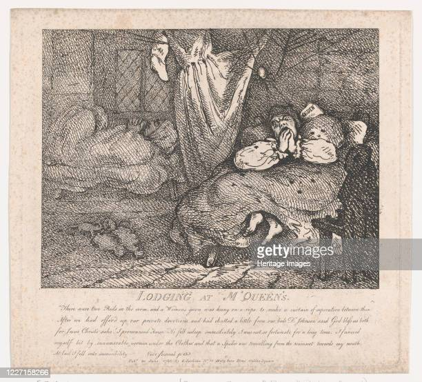 Lodging at M'Queen's June 20 1786 Artist Thomas Rowlandson