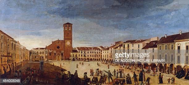 Lodi Piazza Maggiore painting Italy 18th century Lodi Museo Civico