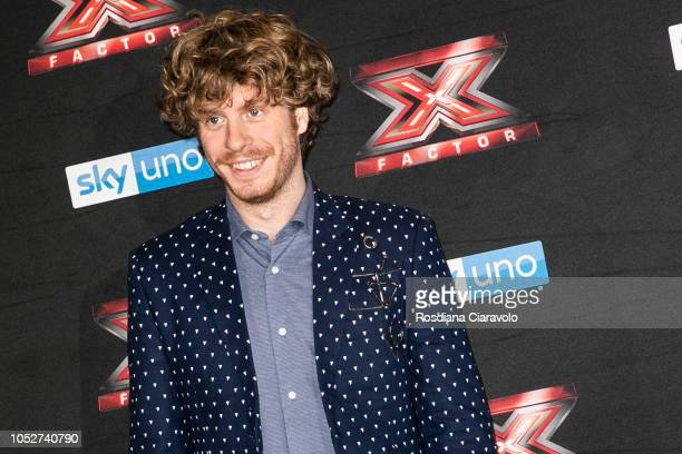 Lodo Guenzi attends X Factor 2018 photocall at Teatro Linear Ciak on October 22 2018 in Milan Italy