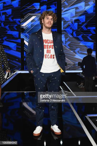 Lodo Guenzi attends X Factor tv show at Teatro Linear Ciak on October 25 2018 in Milan Italy