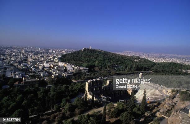 Lodéon dHérode Atticus au pied de l'Acropole d'Athènes en Grèce en 1989