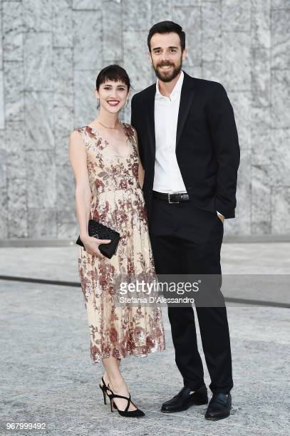 Lodovica Comello and Tomas Goldschmidt arrive at Convivio 2018 on June 5 2018 in Milan Italy