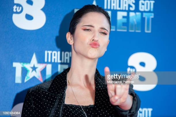 Lodovica Comello at the press conference for the presentation of the Judges of the talent show Italias Got Talent Milan January 10th 2019