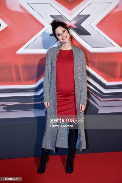 Lodovica Comello attends the photocall of the X Factor 2019 Final at Mediolanum Forum of Assago on December 12, 2019 in Milan, Italy.