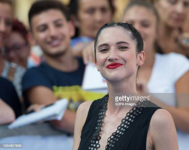 PIANA SALERNO CAMPANIA ITALY Lodovica Comello Italian actress and singer seen smiling at the festival The 48th edition of the Giffoni Film Festival a...