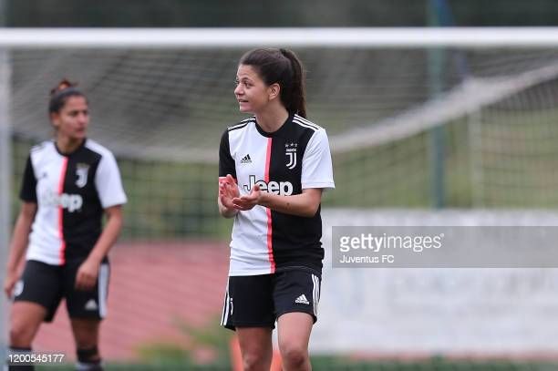 Lodovica Salvioni of Juventus Women U19 celebrates after scoring a goal during the Viareggio Women's Cup match between Juventus U19 and FC...