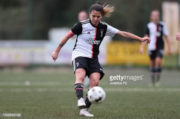 Lodovica Salvioni of Juventus Women U19 in action during the Viareggio Women's Cup match between Juventus U19 and FC Internazionale U19 on February...