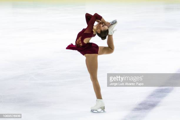 """Loena Hendrickx of Belgium competes during the Ladies Single Skating Free Skating of the Belgian championships at the Ice Rink """"IJsbaan Leuven on..."""
