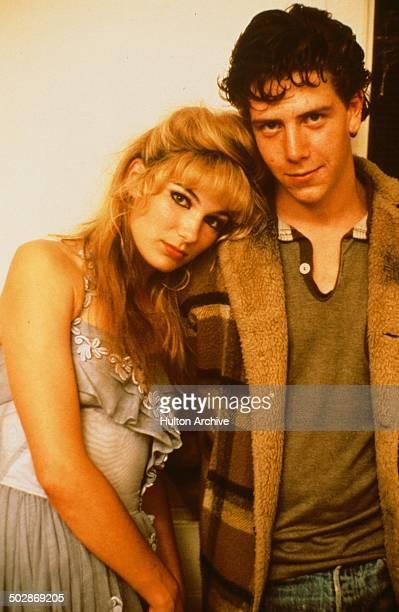 Loene Carmen and Ben Mendelsohn pose for the movieThe Year My Voice Broke circa 1987