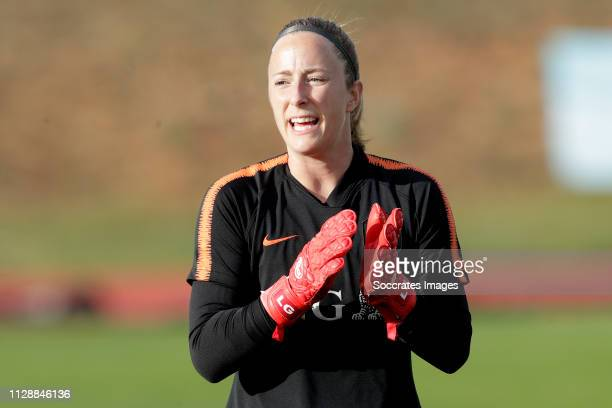 Loes Geurts of Holland Women during the Algarve Cup Women match between China PR v Holland at the Estadio Municipal de Albufeira on March 6, 2019 in...