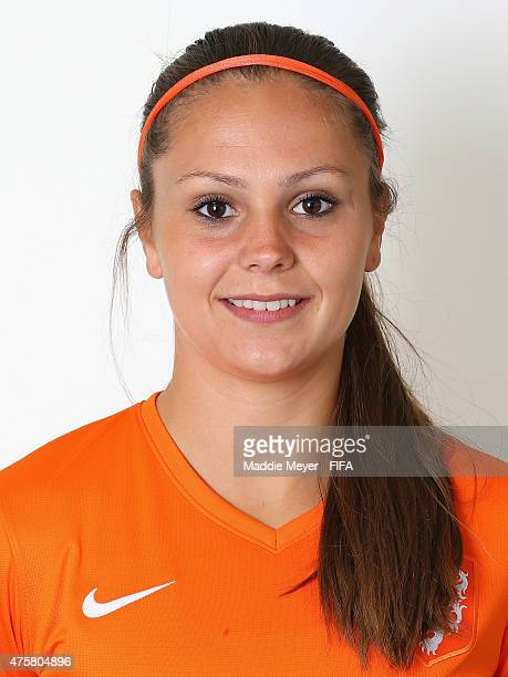 Loes Geurts of Netherlands during the FIFA Women's World Cup 2015 portrait session at the Delta Edmonton South on June 3 2015 in Edmonton Canada