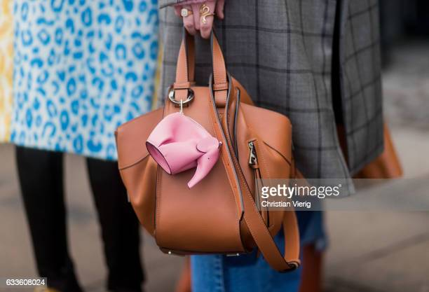 Loewe bag outside Munthe during the Copenhagen Fashion Week Autumn/Winter 17 on February 2 2017 in Copenhagen Denmark