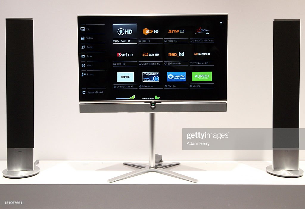 A Loewe Individual ID television is displayed during the Internationale Funkausstellung (IFA) 2012 consumer electronics trade fair on August 31, 2012 in Berlin, Germany. Microsoft, Samsung, Sony, Panasonic and Philips are amongst many of the brands showcasing their latest consumer electronics hardware, software and gadgets to members of the public from August 31 to September 5.