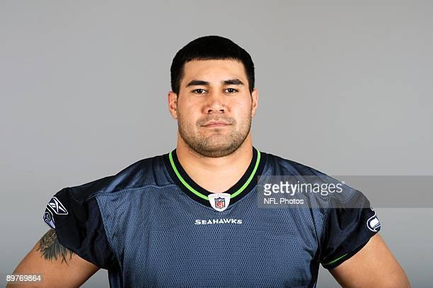 Lofa Tatupu of the Seattle Seahawks poses for his 2009 NFL headshot at photo day in Seattle Washington