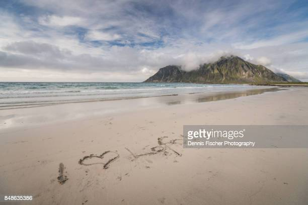 lofoten beach in summer - reise stock pictures, royalty-free photos & images