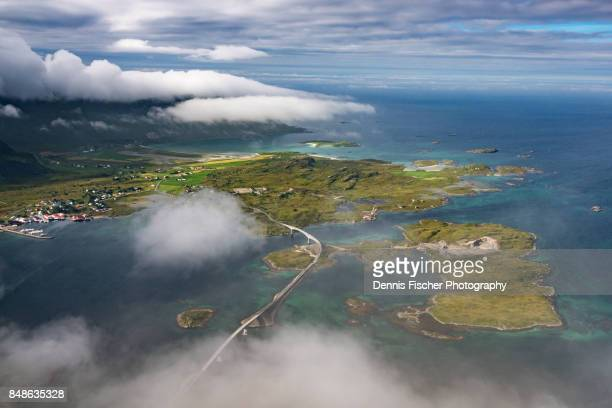 Lofoten islands and bridge view