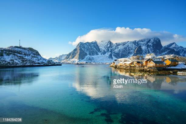 lofoten islands in northern norway - lofoten stock pictures, royalty-free photos & images