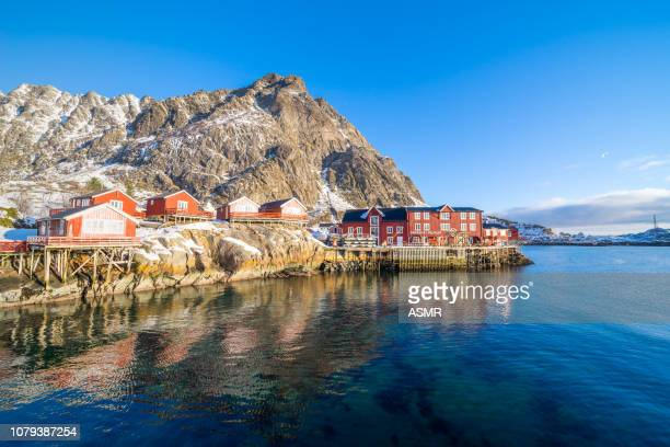 lofoten islands, norway - fishing village stock pictures, royalty-free photos & images