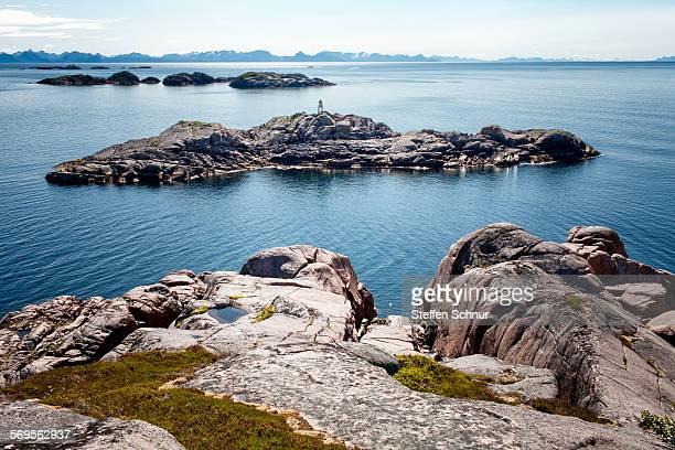 Lofoten rocky coast Norway lonely landscape