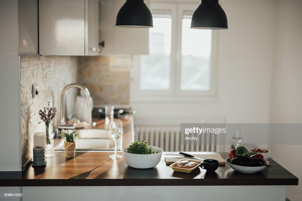 Loft Apartment Kitchen : Stock Photo