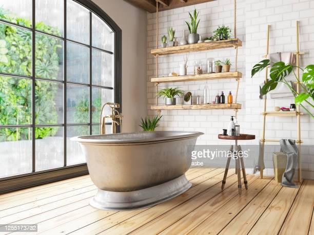 ロフト バスルーム - 家庭の備品 ストックフォトと画像