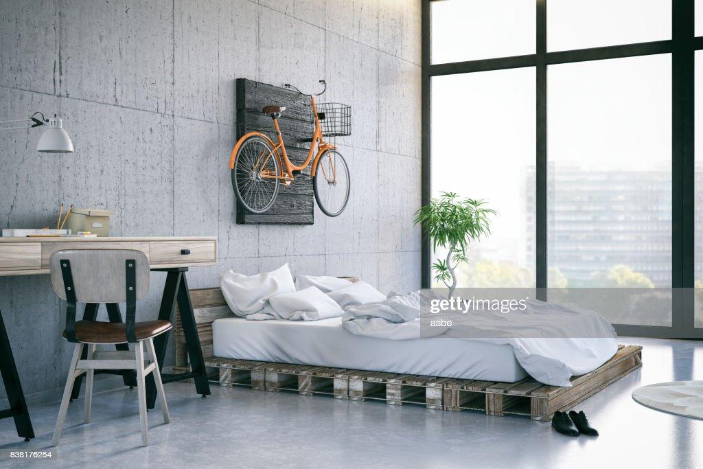 Loft Bedroom : Stock Photo