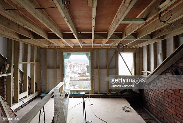 loft conversion sequence part 1. - renovation stock pictures, royalty-free photos & images
