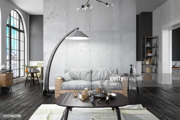 loft home interior - lampada elettrica foto e immagini stock