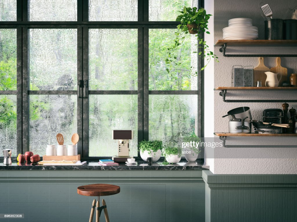 Loft Kitchen : Stock Photo