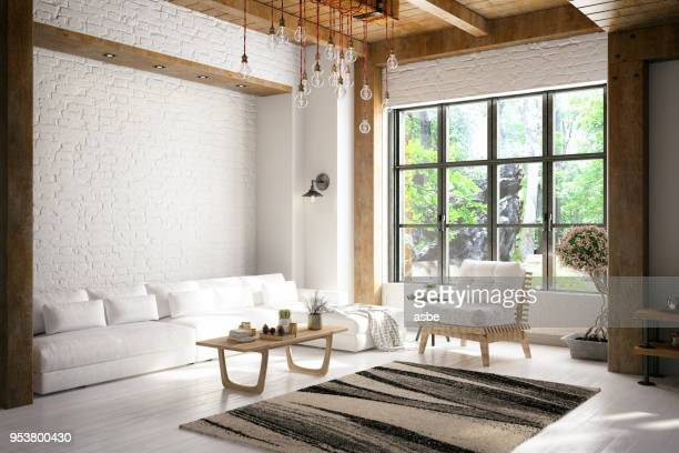 loft room - modern stock pictures, royalty-free photos & images