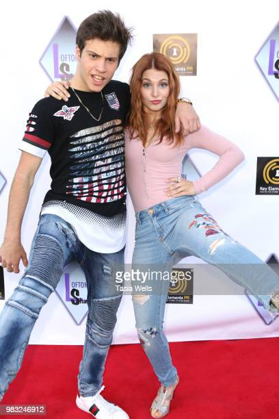 Lofton Shaw and Ainsley Ross attend Lofton Shaw's 18th birthday party on June 24 2018 in Northridge California
