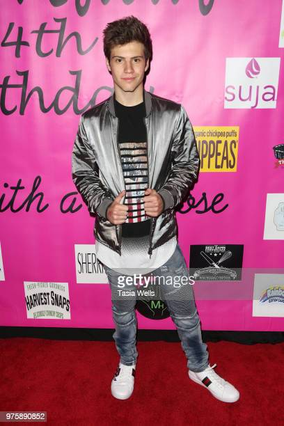 Lofton Shaw attends Jillian Estell's red carpet birthday party with a purpose benefitting The Celiac Disease Foundation on June 15 2018 in Los...