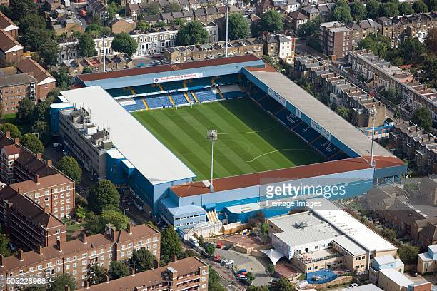 Loftus Road football stadium Shepherds Bush London 2006 Aerial view of the home of Queens Park Rangers Football Club Artist Historic England Staff...