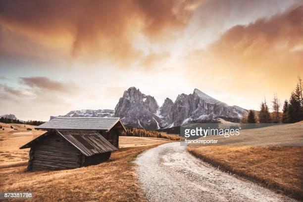 cabane en rondins à seiser alm