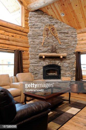 log cabin living room.  Log Cabin Living Room Stock Photo Getty Images