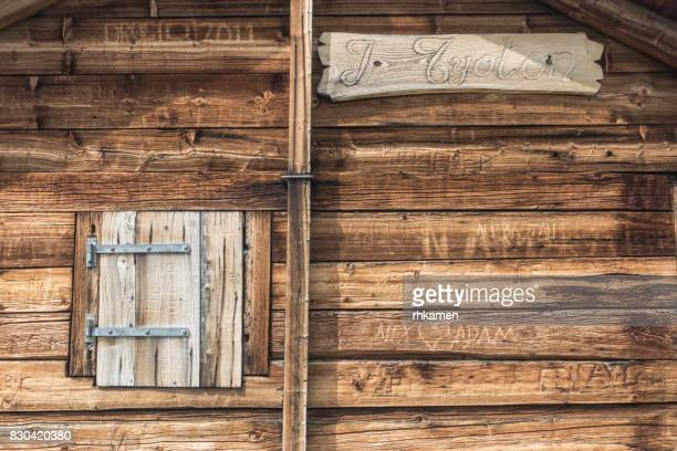 Log cabin, Verbier, Valais, Switzerland
